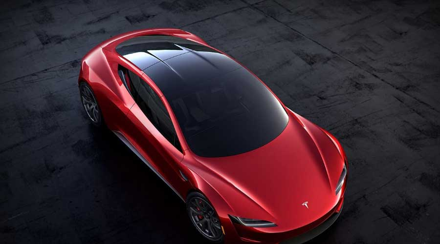 Tesla roadster glass roof