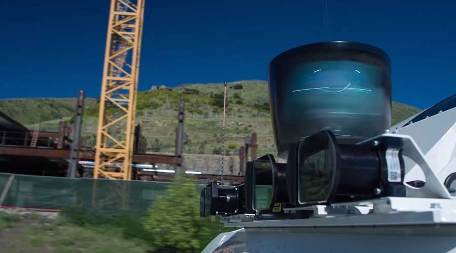 Uber ATG self driving truck radar system