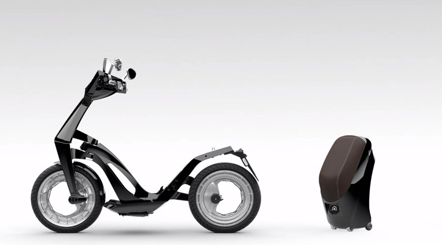 Ujet electric scooter portable battery