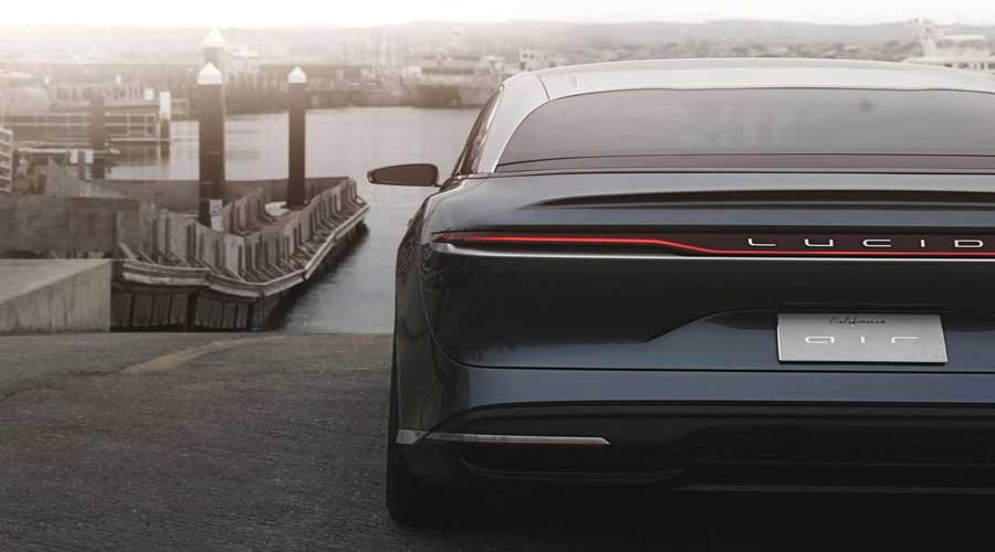 Lucid air rear view