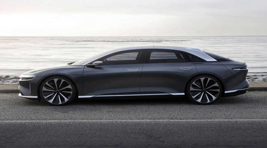 Luxury electric car Lucid air side view