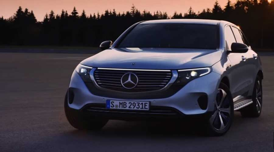 Mercedes Benz EQC lighting