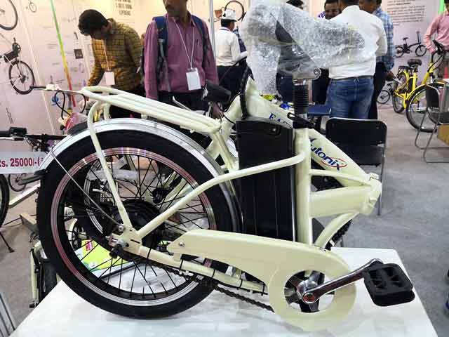 Foldable electric Bicycle at 2019 E-Wheel Expo