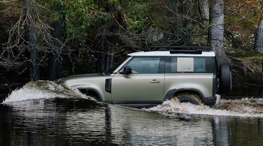 land rover defender water wading