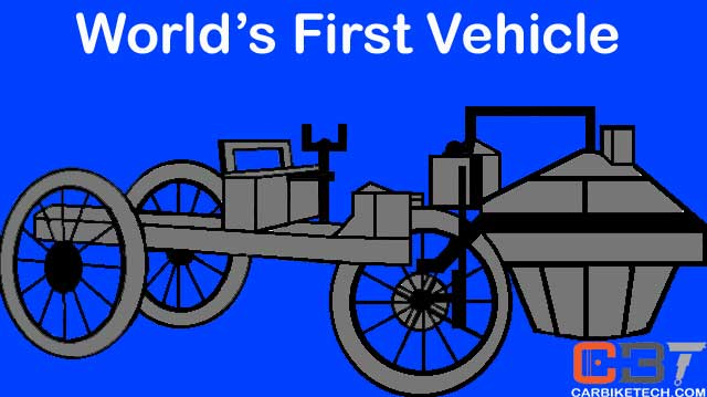 An artist's impression of the world's first automobile or motor vehicle
