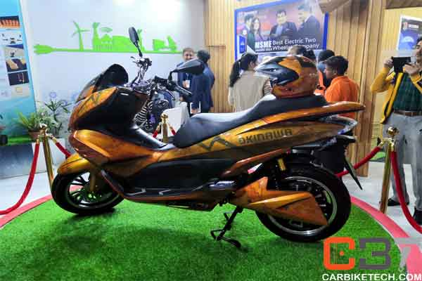 Okinawa Cruiser at the Auto Expo 2020 upcoming electric bikes in India