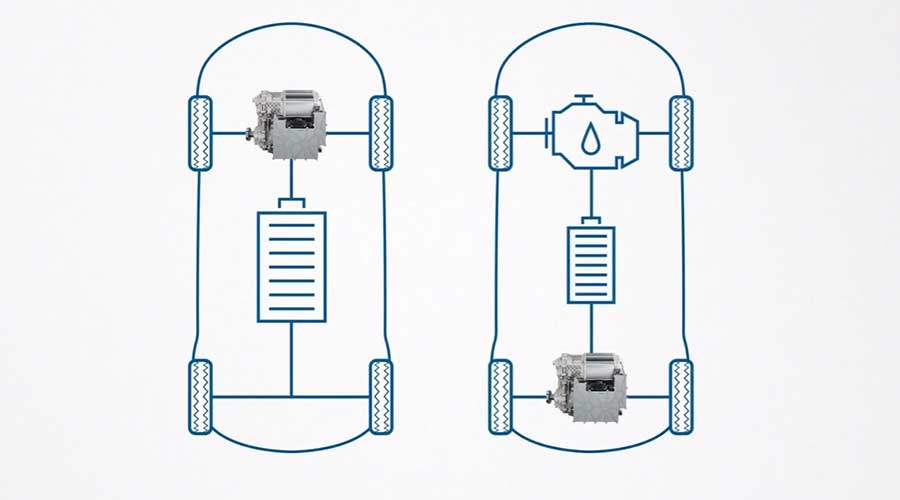 Bosch eAxle Electric and Hybrid application