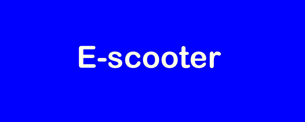 E-scooter or E-Motorcycle